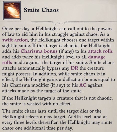 Smite Chaos Ability Regill Pathfinder Wrath of the Righteous Build