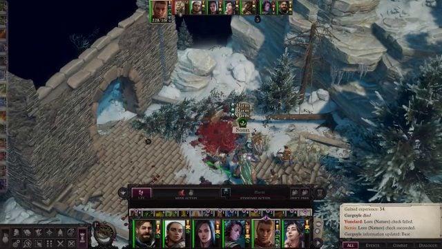 Sosiel Casting Harm Spell in Combat Sosiel Pathfinder Wrath of the Righteous Build