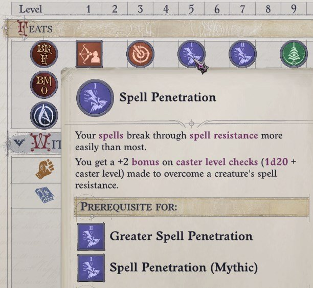 Spell Penetration Feat Ember Build Guide Pathfinder WotR