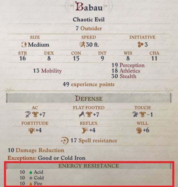 Spell Resistance of Enemies Daeran Pathfinder Wrath of the Righteous Build