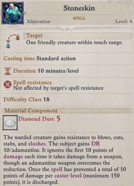 Stoneskin Spell Primalist Bloodrager Pathfinder Wrath of the Righteous Build