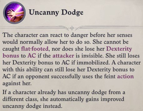 Uncanny Dodge for the Oracle Class Daeran Pathfinder Wrath of the Righteous Build