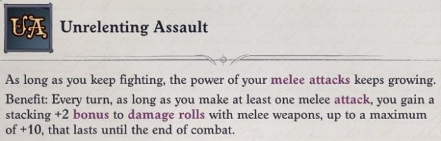 Unrelenting Assault Mythic Ability Regill Pathfinder Wrath of the Righteous Build