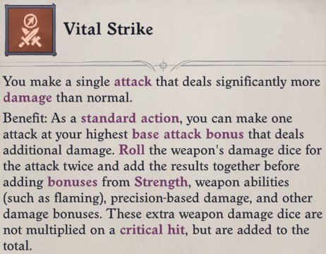 Vital Strike Feat Delamere Pathfinder Wrath of the Righteous Build