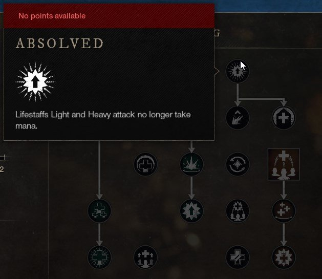 Absolved Life Staff Skill New World Weapon Guide Best Weapon Skills And Abilities For Your Builds