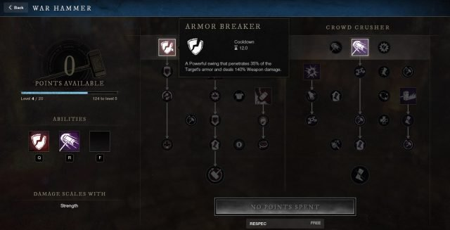 Armor Breaker War Hammer Ability New World Weapon Guide Best Weapon Skills And Abilities For Your Builds