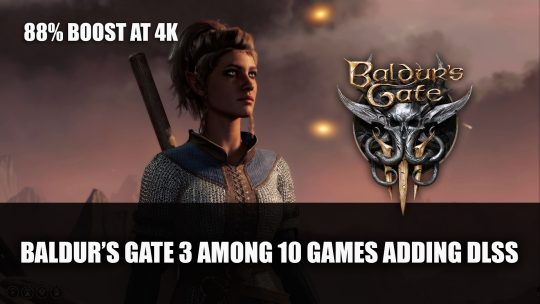 Baldur's Gate 3 Among 10 Games Adding DLSS in October