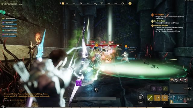Bow and Spear in Combat New World Weapon Guide Best Weapon Skills And Abilities For Your Builds