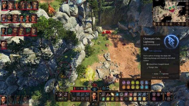 Chromatic Orb Spell in Combat Baldur's Gate 3 Builds Sorcerer Class Guide