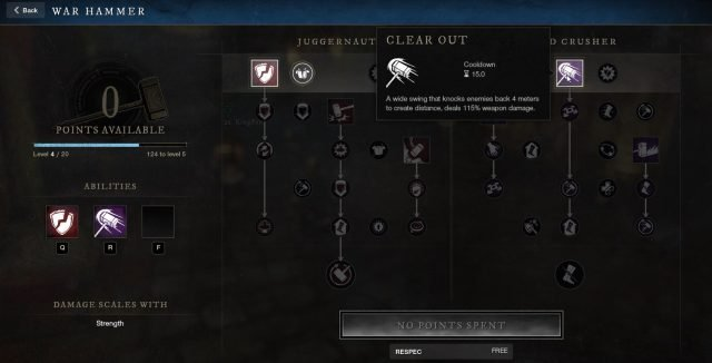 Clear Out War Hammer Ability New World Weapon Guide Best Weapon Skills And Abilities For Your Builds