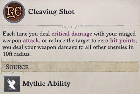 Cleaving Shot Mythic Ability Ki Power Quivering Palm Zen Archer Monk Pathfinder Wrath of the Righteous Build