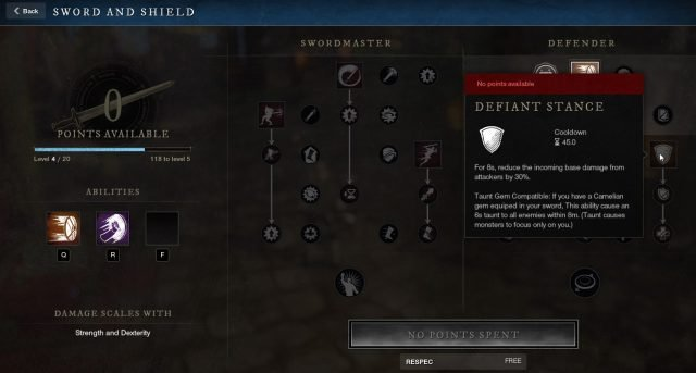 Defiant Stance Sword and Shield Ability New World Weapon Guide Best Weapon Skills And Abilities For Your Builds