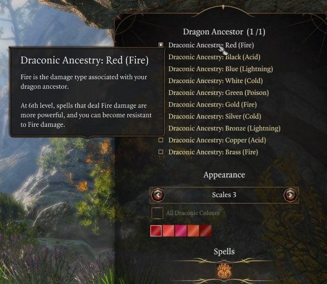 Dragon Ancestor for the Draconic Bloodline Subclass Baldur's Gate 3 Builds Sorcerer Class Guide