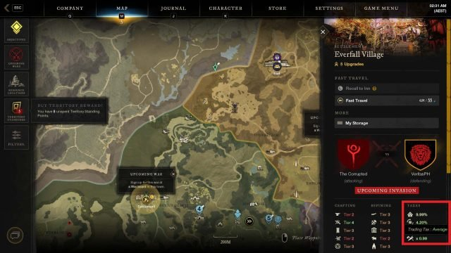 Everfall Trading Tax New World Gold Guide How to Farm Gold As A Beginner