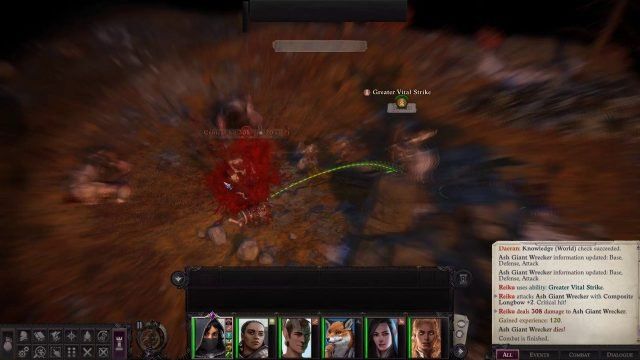 Greater Vital Strike with Critical Hit in Combat Zen Archer Monk Pathfinder Wrath of the Righteous Build
