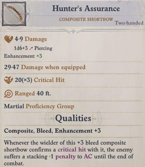 Hunter's Assurance Composite Shortbow Ki Power Quivering Palm Zen Archer Monk Pathfinder Wrath of the Righteous Build