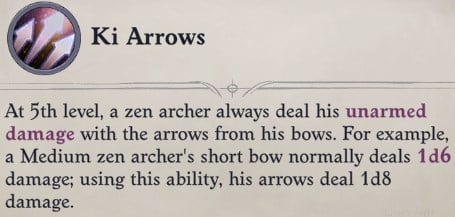 Ki Arrows Class Feature Zen Archer Monk Pathfinder Wrath of the Righteous Build