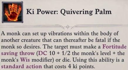 Ki Power Quivering Palm Zen Archer Monk Pathfinder Wrath of the Righteous Build