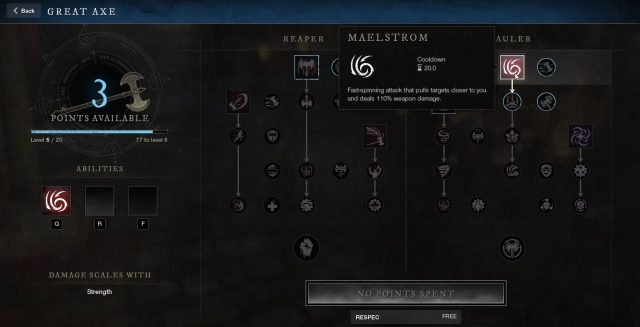 Maelstrom Great Axe Ability New World Weapon Guide Best Weapon Skills And Abilities For Your Builds
