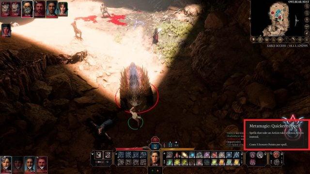 Metamagic Quickened Spell in Combat Baldur's Gate 3 Builds Sorcerer Class Guide