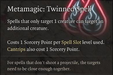 Metamagic Twinned Spell