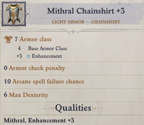 Mithral Chainshirt Light Armor Cult Leader Warpriest Pathfinder Wrath Of The Righteous Build