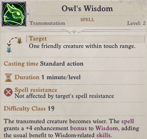 Owl's Wisdom Spell Cult Leader Warpriest Pathfinder Wrath Of The Righteous Build
