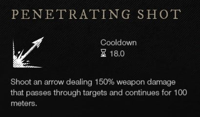 Penetrating Shot Bow Ability New World Weapon Guide Best Weapon Skills And Abilities For Your Builds