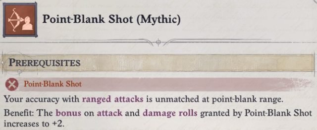 Point-Blank Shot (Mythic) Mythic Feat Ki Power Quivering Palm Zen Archer Monk Pathfinder Wrath of the Righteous Build