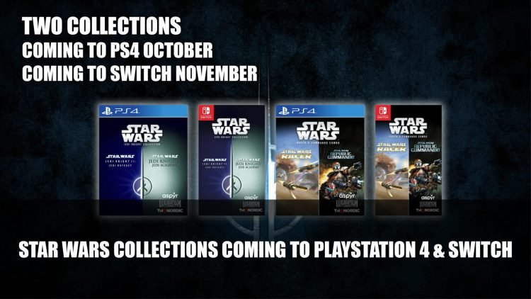 Star Wars Jedi Knight Collection and Star Wars Racer and Commando Combo launch October 26 for PS4 and November 16th for Switch