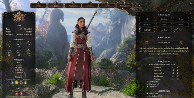 Wood Half-Elf Race Baldur's Gate 3 Builds Sorcerer Class Guide